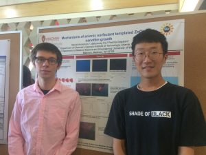 Jaehyoung Ko and Daniel Anderson Presenting Posters at UW-Madison in August 2017