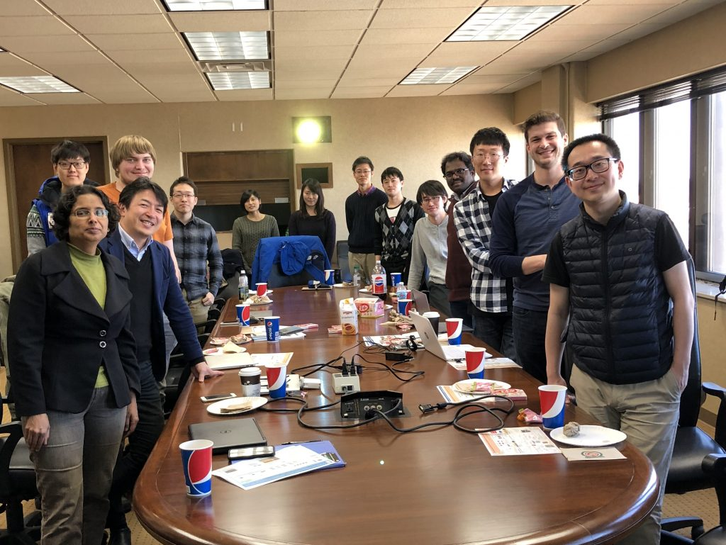 Prof. Hayakawa's Group from Tokyo Institute of Technology Visit in March 2018